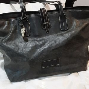DOONEY & BOURKE TOTE COATED LEATHER GREY